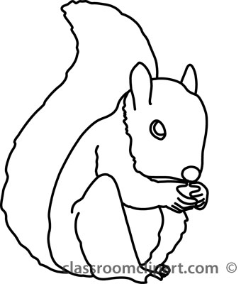 Squirrel Clip Art Black And White.