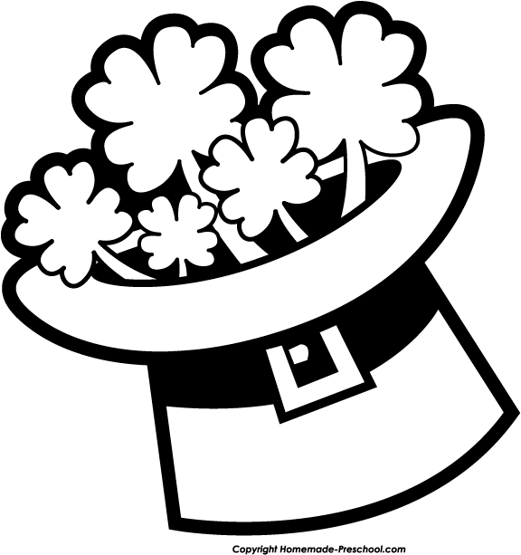 St Patricks Day Clipart Black And White #450111.