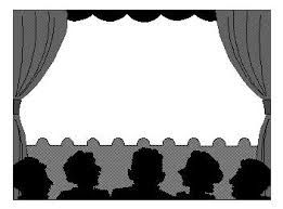 Image result for stage clipart black and white pictures.