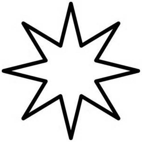Black And White Star Clipart.