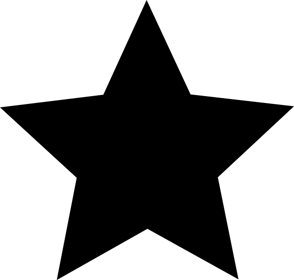 159 Star Black And White free clipart.