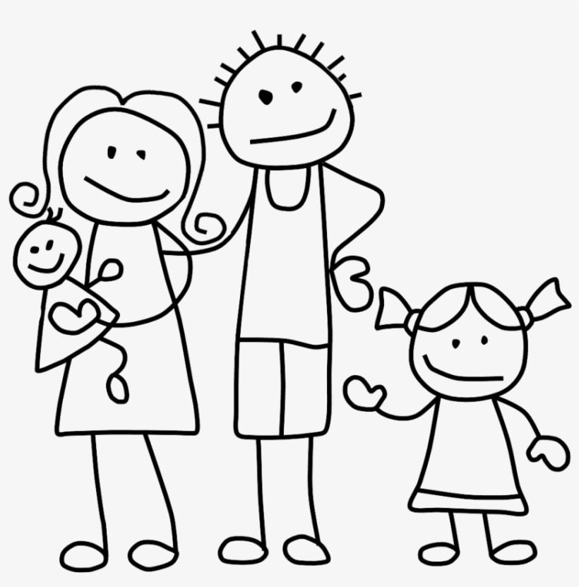 Family Clip Art Black And White.