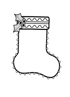 Stocking clipart black and white 3 » Clipart Station.