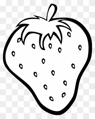 Free PNG Strawberry Black And White Clip Art Download.