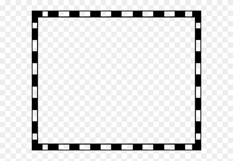 Black And White Stripe Border Clipart (#392026).