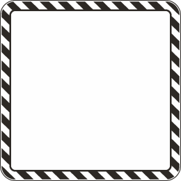 Custom Square Sign w/ Colored Border or Background, Text.