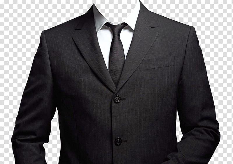Black suit illustration, Suit Blazer, Suit transparent.