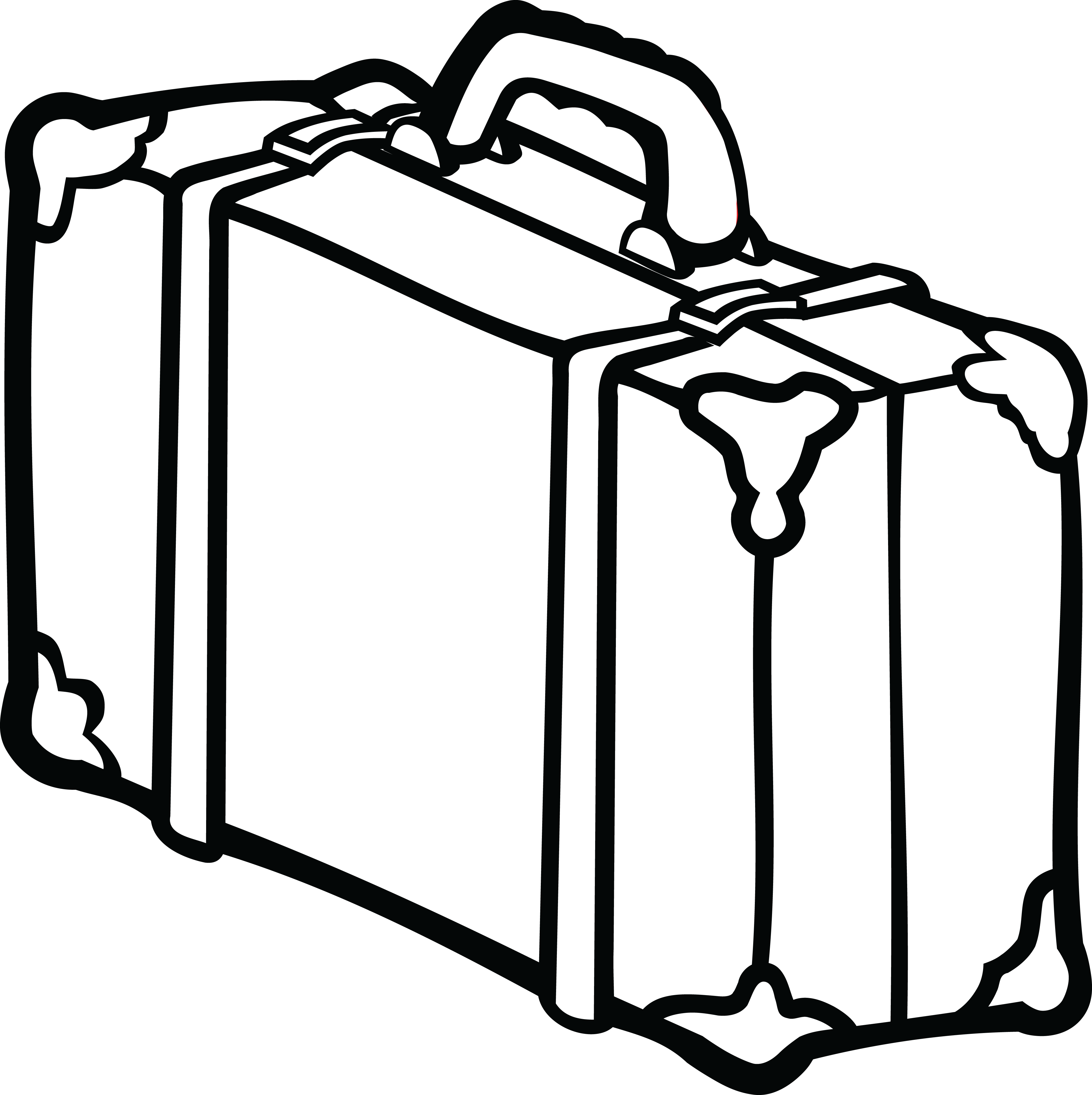 Suitcase clipart black and white 3 » Clipart Station.