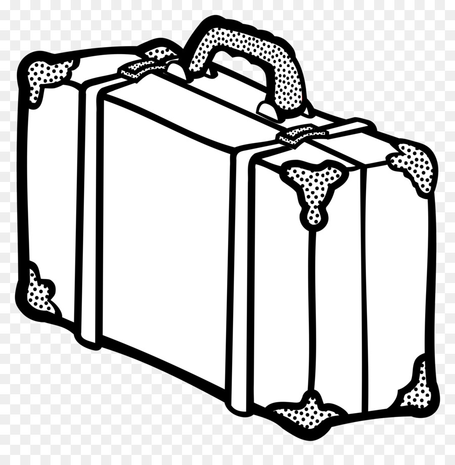 Black And White Suitcase Png & Free Black And White Suitcase.png.