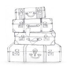 Black and white suitcase clipart 2 » Clipart Portal.