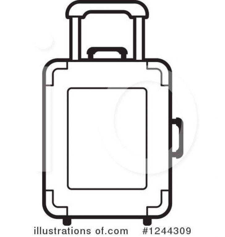 black/white luggage clip art.