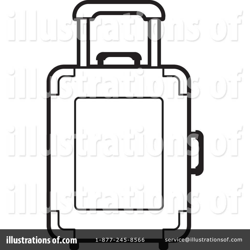 Suitcase Coloring Page Clipart.