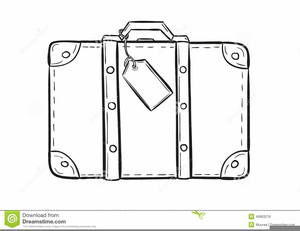 Suitcase Black And White Clipart.