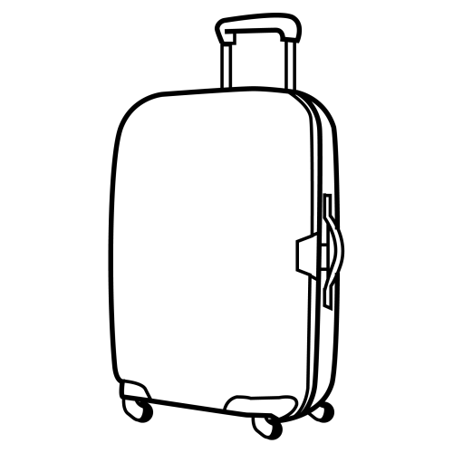 Free Luggage Cartoon Black And White, Download Free Clip Art, Free.