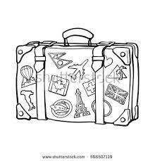Resultado de imagem para black and white suitcase clipart.