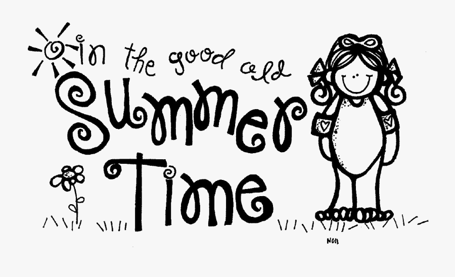 Transparent Summertime Clipart Black And White.