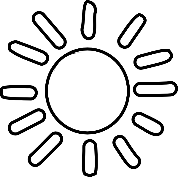 Black and white sun clipart free library rr collections png.