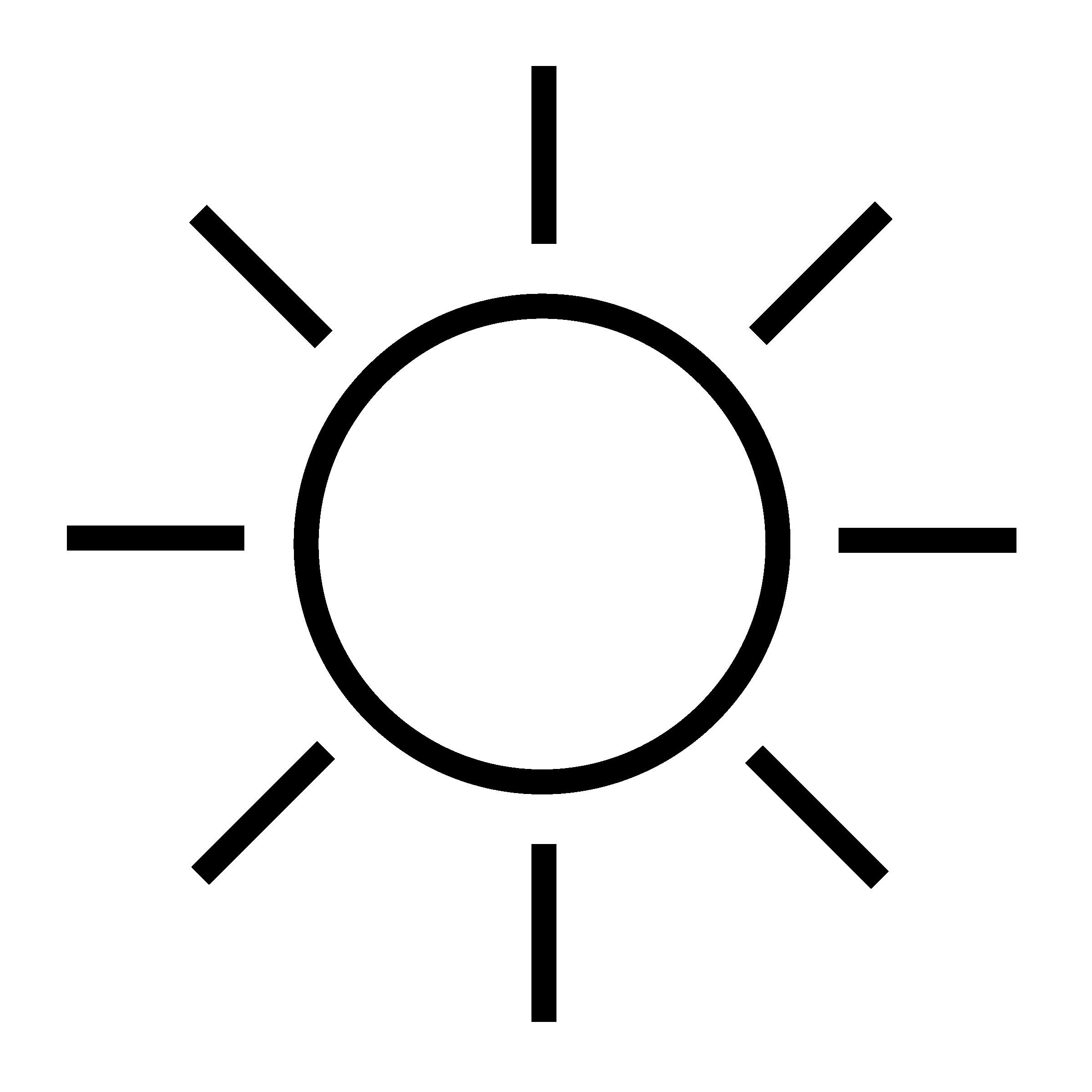 Sun Clipart Black And White.