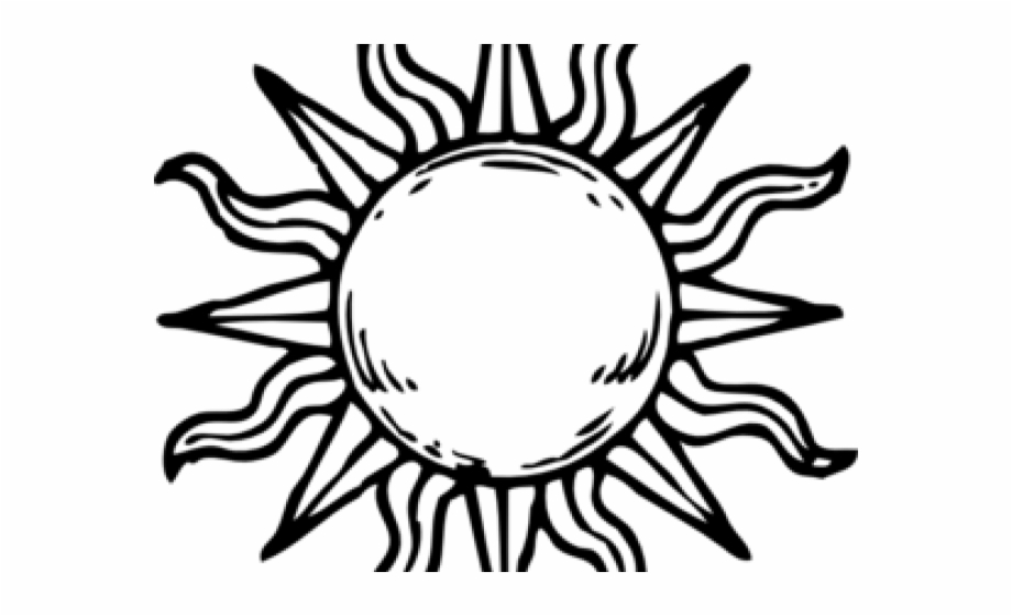 Sun Clipart Black And White Black And White Png.