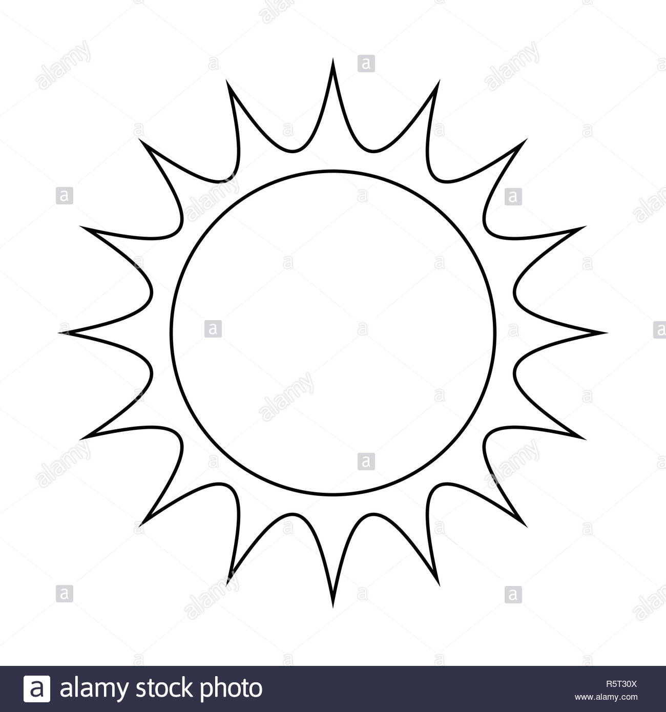 Hot Sun Clipart Black and White Stock Photos & Images.