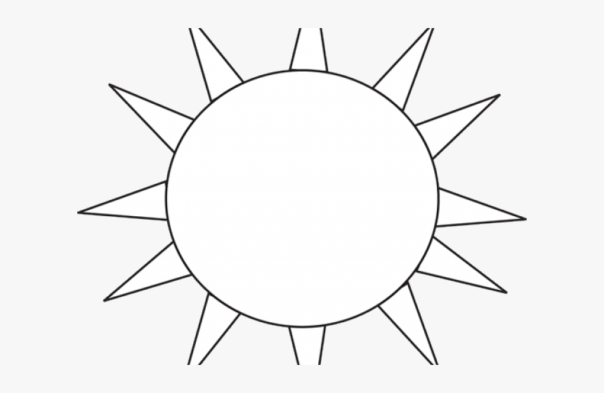 Black And White Sun Clipart.