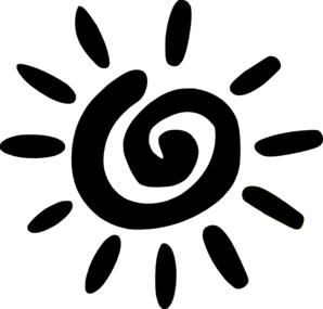 Black And White Sun Clip Art, Sun Black And White Free Clipart.