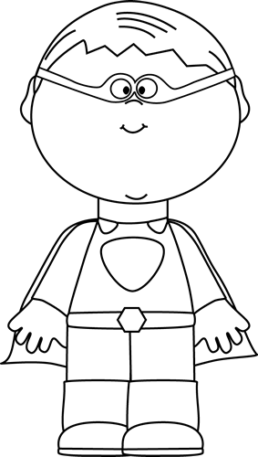 Superhero Clipart Black And White For Teachers.