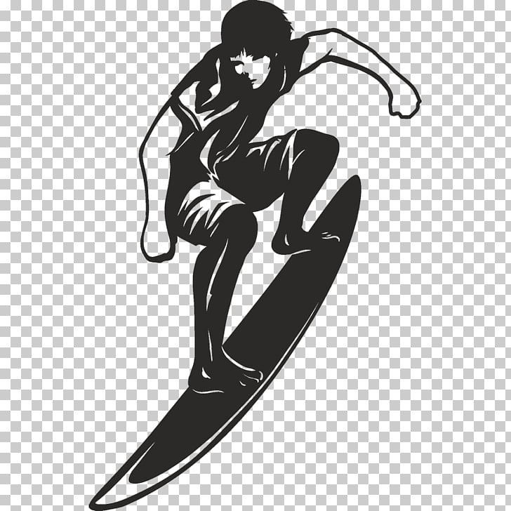 Black and white Surfing , surfing PNG clipart.