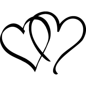 Black And White Clipart Heart.