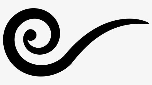 Black Underline Swirl Clip Art.