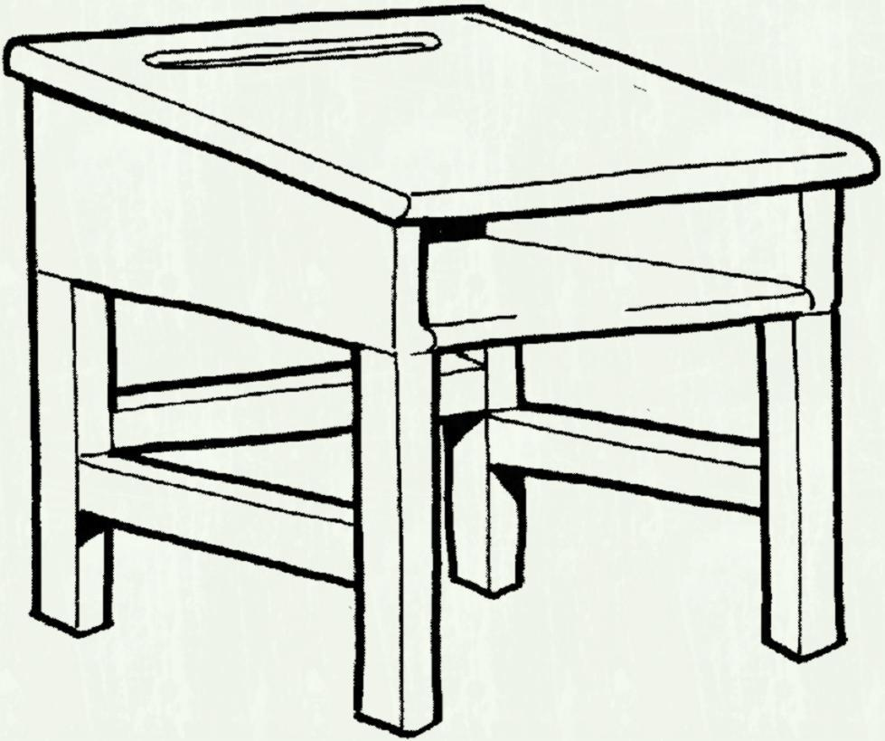 School table clipart black and white 3 » Clipart Portal.