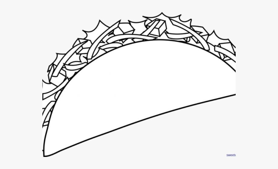 Fish Taco Clipart Coloring.