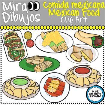 Mexican Food Comida Mexican Clip Art in 2019.