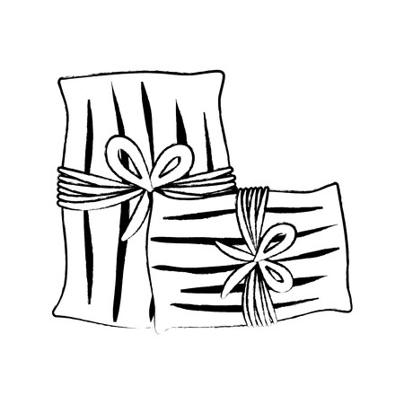 mexican tamales over white background, vector illustration.
