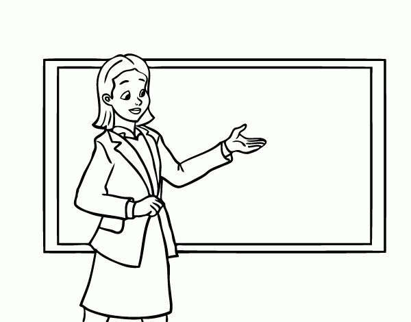 Black and white teacher clipart » Clipart Station.