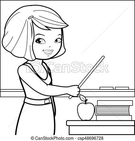 Black and white teacher clipart 2 » Clipart Station.
