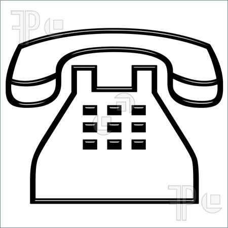 Telephone clipart black and white 2 » Clipart Station.