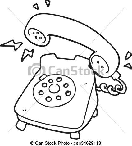 Clipart black and white telephone 3 » Clipart Portal.