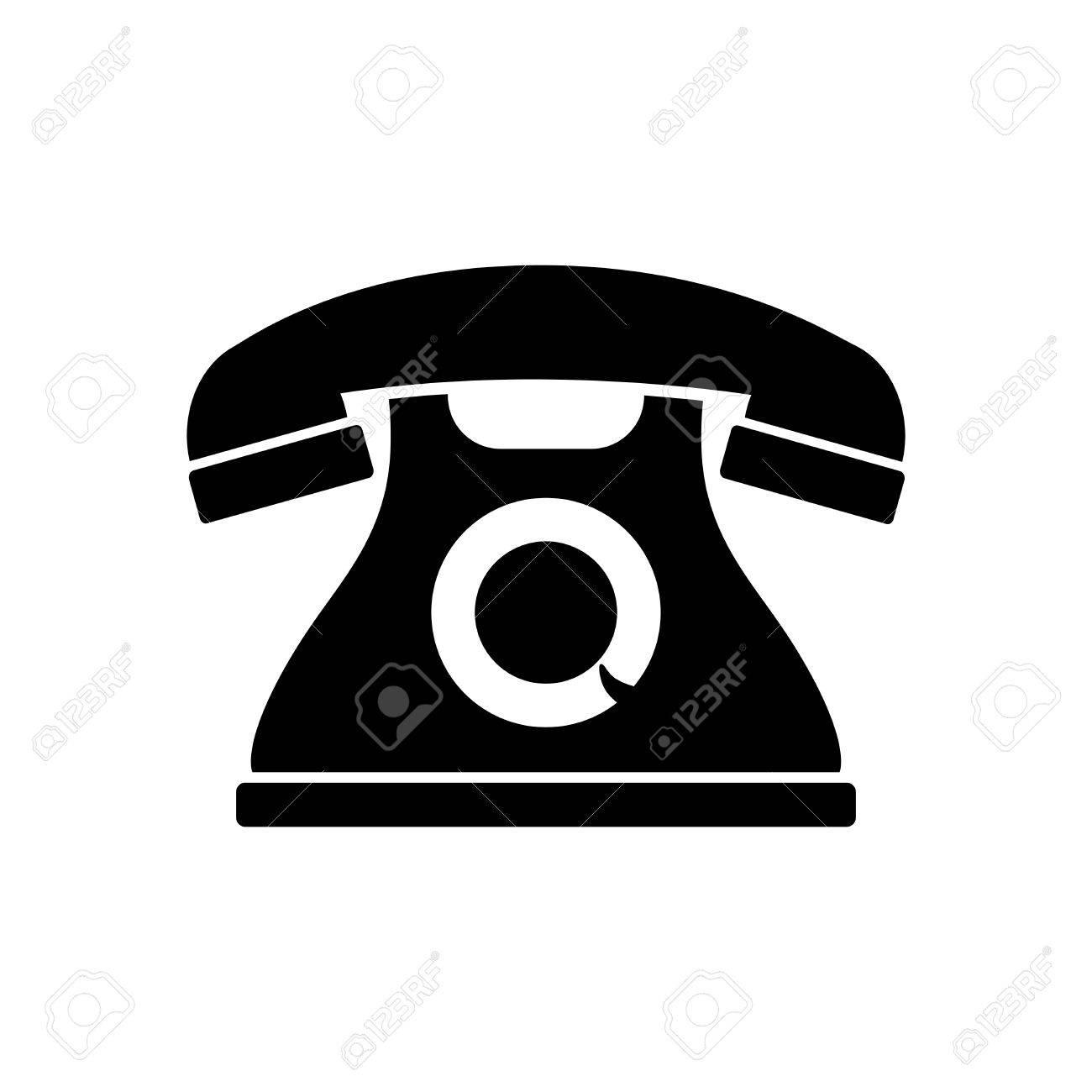 Black and white telephone icon.