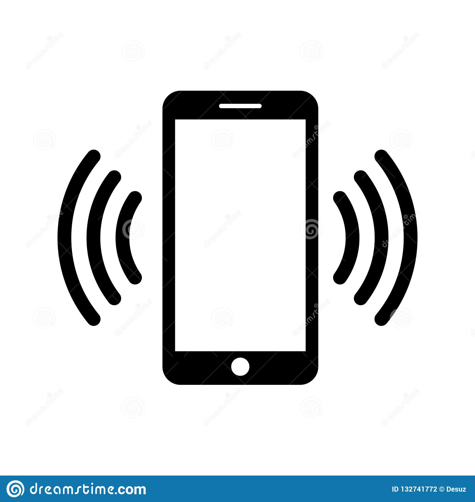 Phone Icon In Black And White. Telephone Symbol. Vector Illustration.