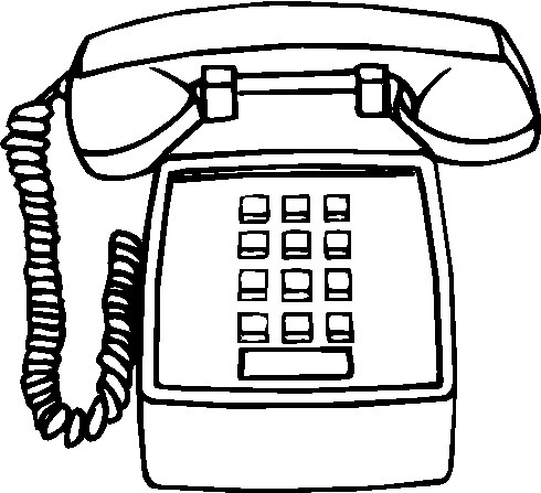 Telephone Clipart Black And White #2990 for Telephone Clipart Black.
