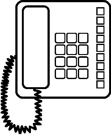 Telephone clipart black and white » Clipart Station.