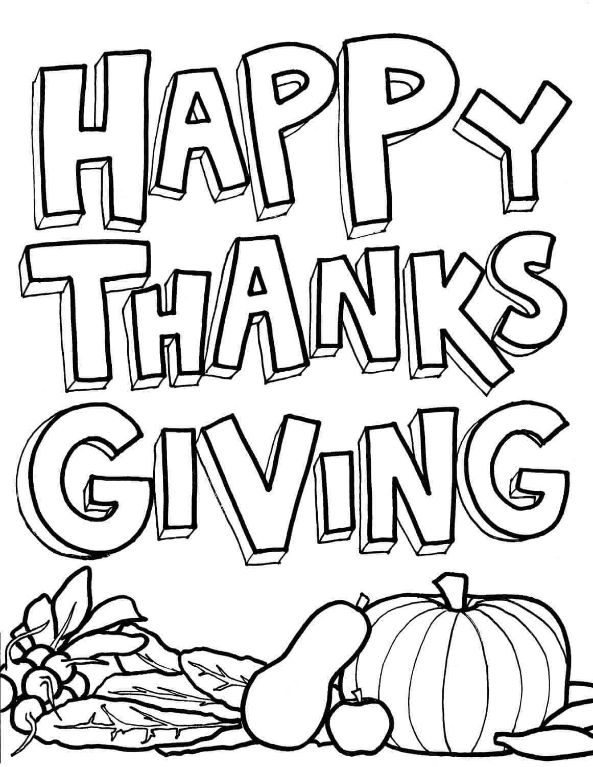 Thanksgiving Clip Art Black And White.