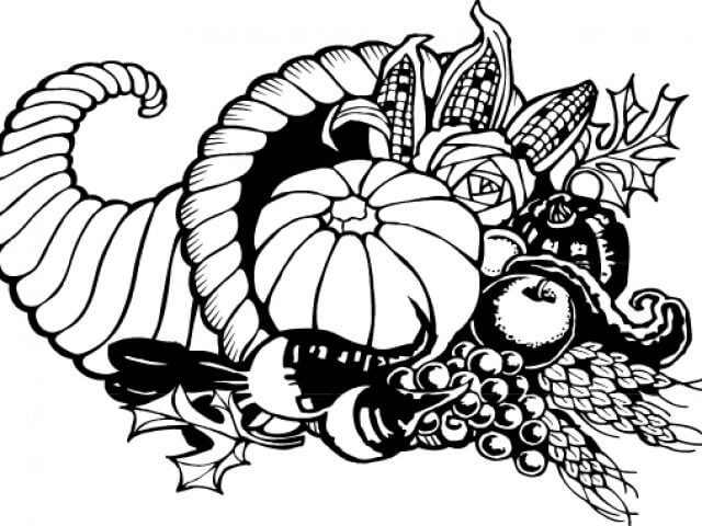 Free Thanksgiving Clipart Black And White.