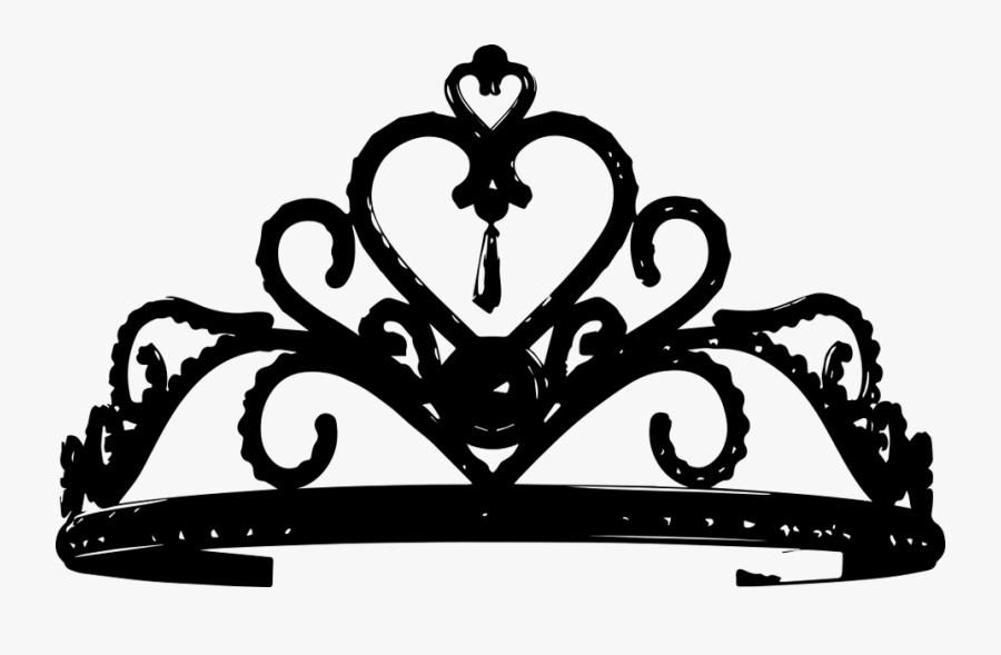Transparent Tiara Clip Art Black And White.