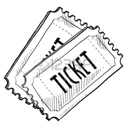 Movie Ticket Clipart Black And White.