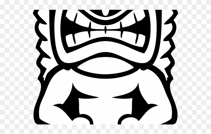 Totem Pole Clipart Black And White.