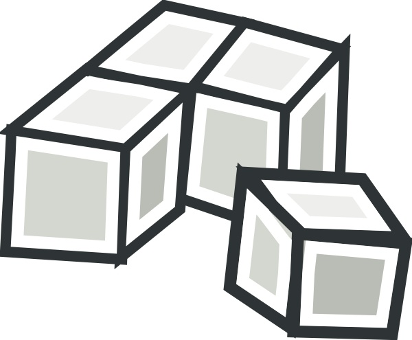 Tofu Cubes clip art Free vector in Open office drawing svg.