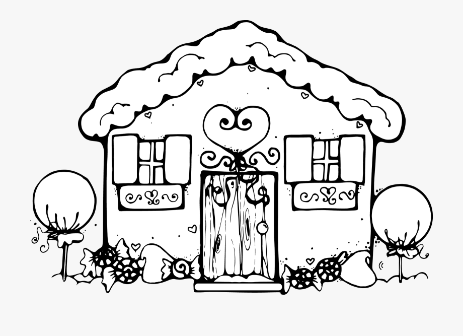 House Black And White Clipart Cute.