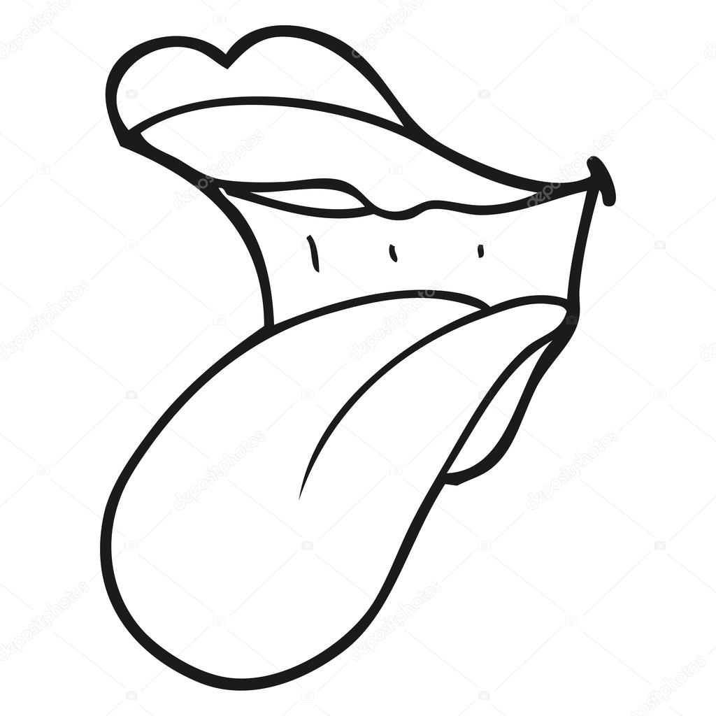 Mouth And Tongue Clipart Black And White images collection.